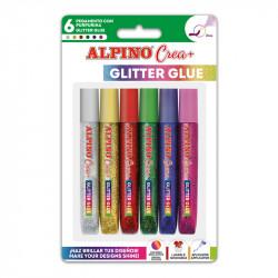 ALPINO CREA 6 GLITTER GLUE