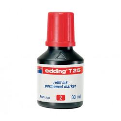 EDDING FRASCO TINTA 30ML ROJO