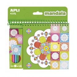 Bloc para colorear - Mandala