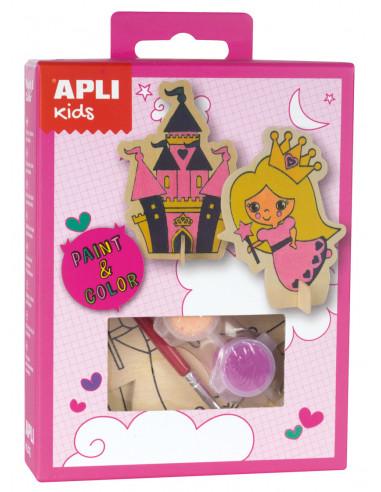 Mini Kit Pinta y colorea princesas