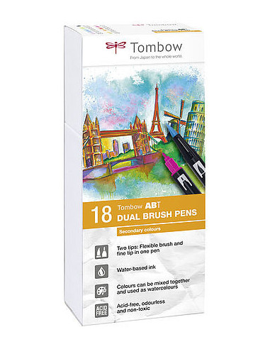 SET TOMBOW  ABT  18 UND SECUNDARY COLORS